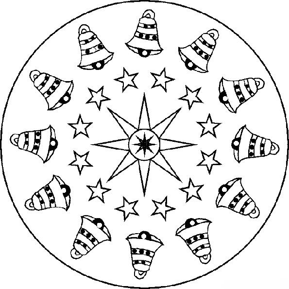 Ausmalbilder Weihnachten Mandala-10