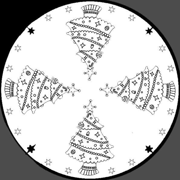 Ausmalbilder Weihnachten Mandala-5