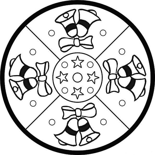 Ausmalbilder Weihnachten Mandala-6