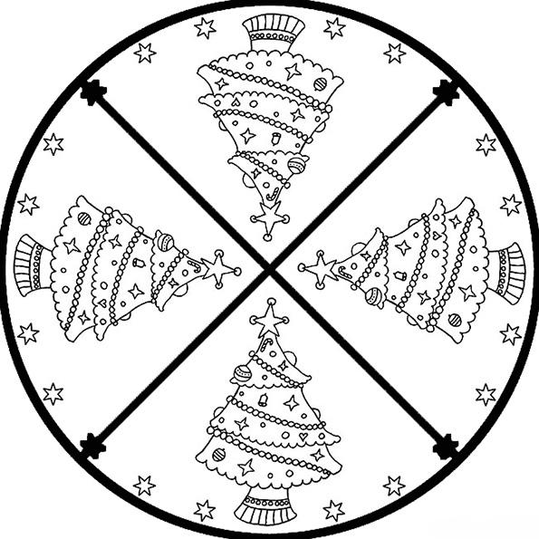 Ausmalbilder Weihnachten Mandala-7