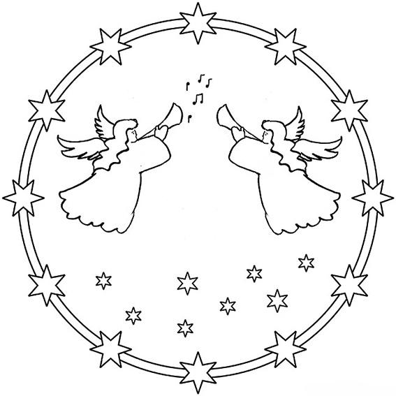 Ausmalbilder Weihnachten Mandala-9