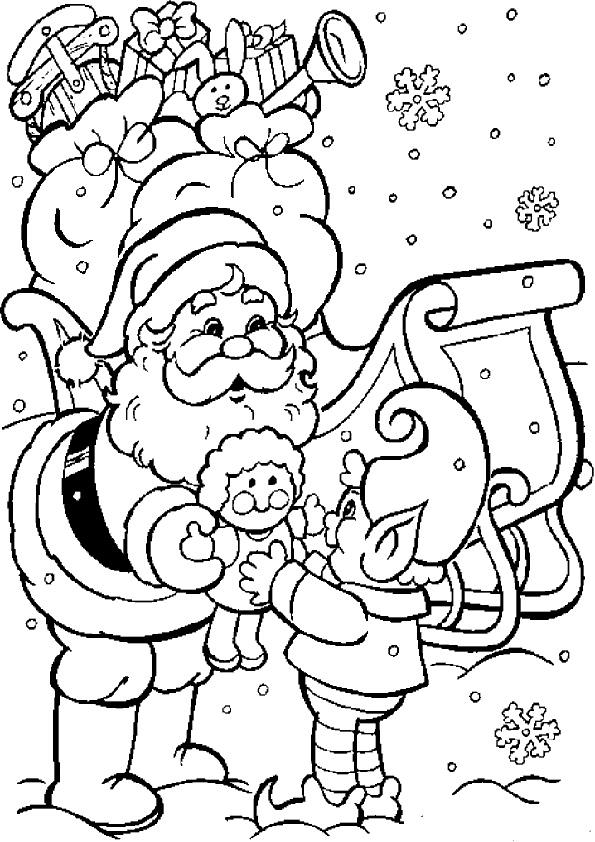 Ausmalbilder Weihnachten Nikolaus-2 | Ausmalbilder Weihnachten