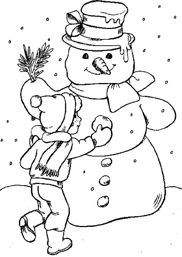 Ausmalbilder Weihnachten, Malvorlagen Schneemann, Zum drucken und malen Weihnachten Schneemann-4
