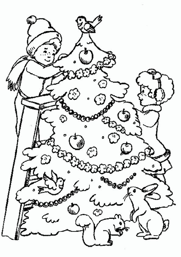 Ausmalbilder-Weihnachtsbaume-1