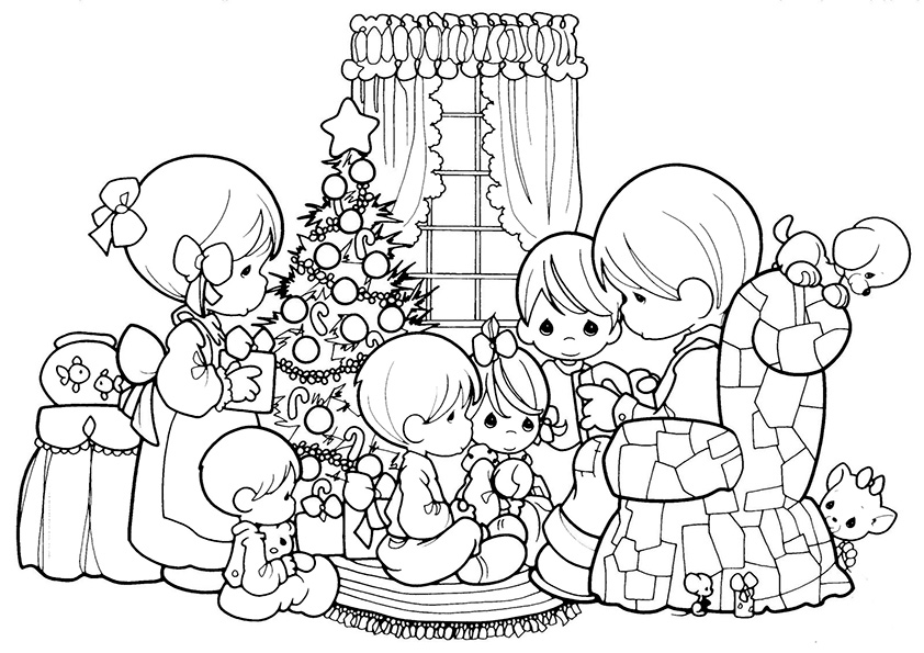 Ausmalbilder-Weihnachtsbaume-2