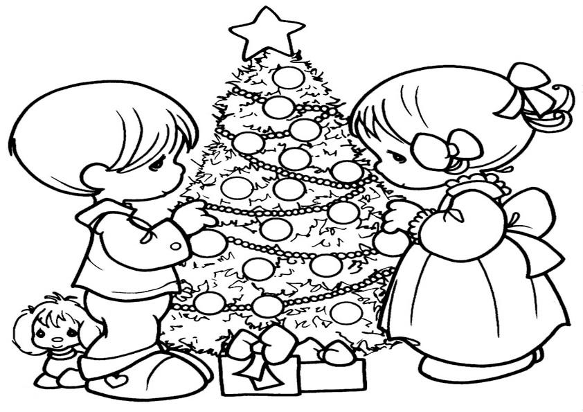 Ausmalbilder-Weihnachtsbaume-4