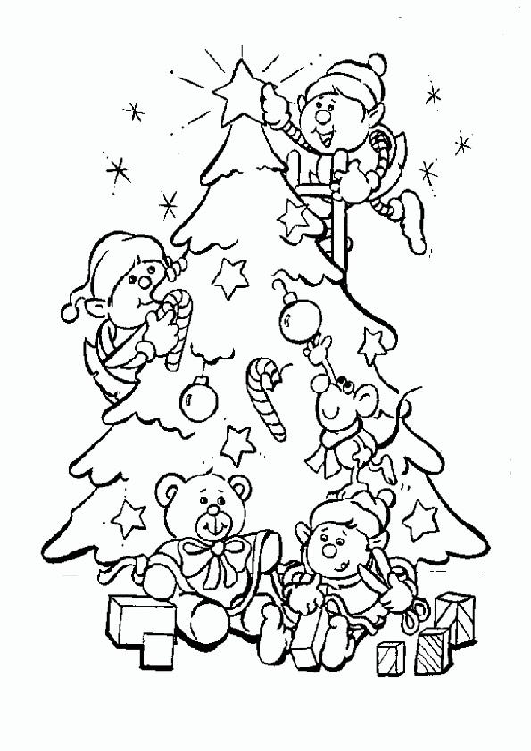 Ausmalbilder-Weihnachtsbaume-5