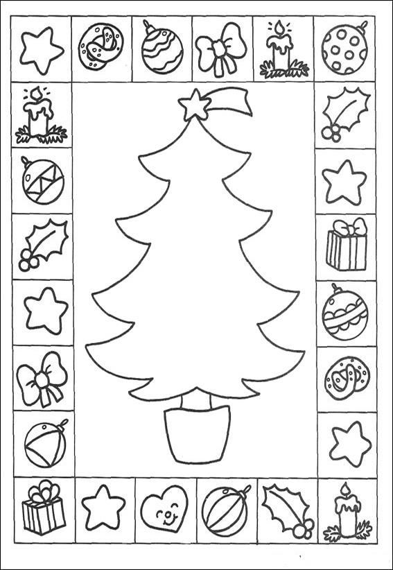 Ausmalbilder--Weihnachtsbaume-10