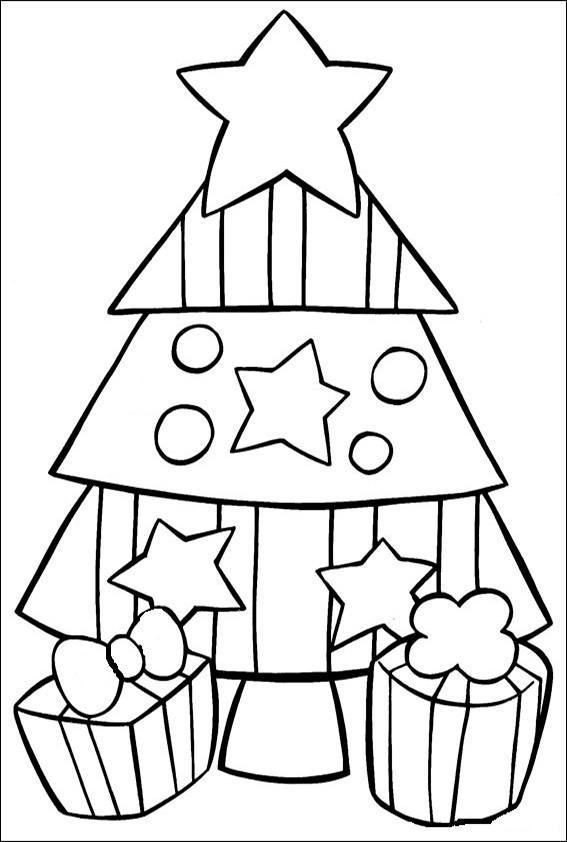 Ausmalbilder--Weihnachtsbaume-11