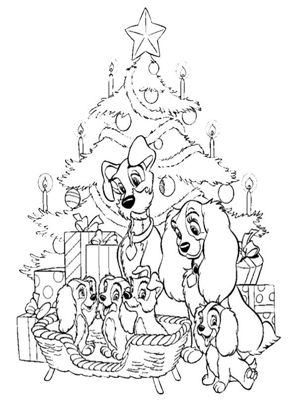 Ausmalbilder-Weihnachtsbaume -12