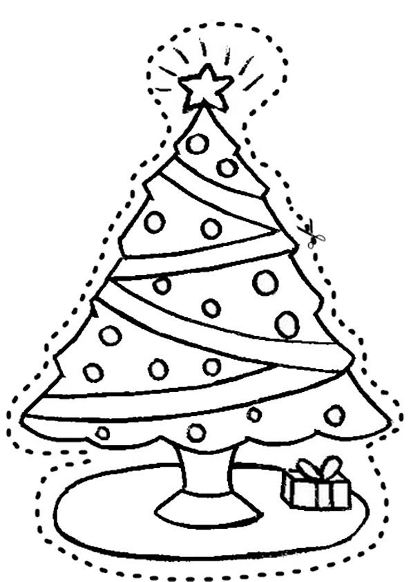 Ausmalbilder-Weihnachtsbaume-7