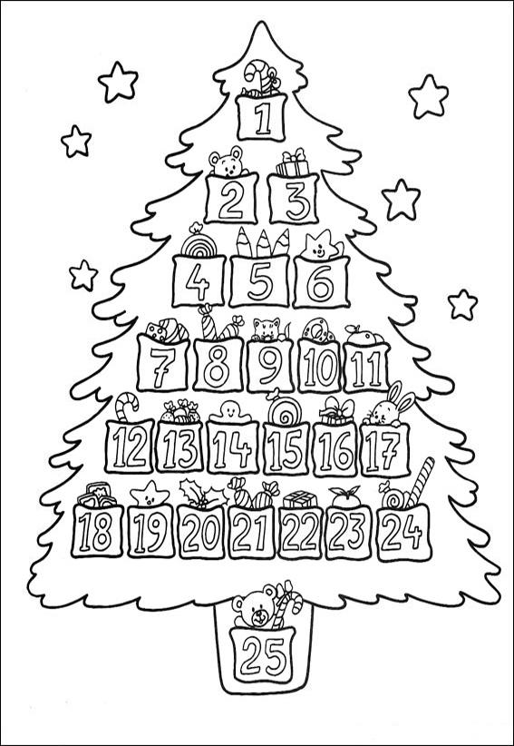 Ausmalbilder--Weihnachtsbaume-9