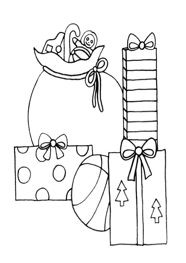 Ausmalbilder  Weihnachtsgeschenke-3
