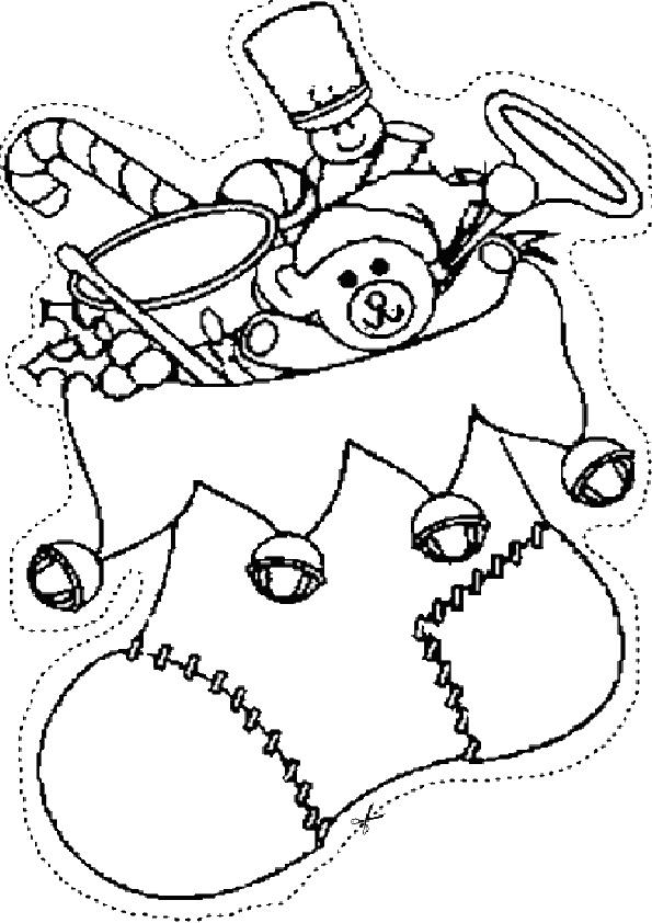 Ausmalbilder Weihnachtsschmuck-7