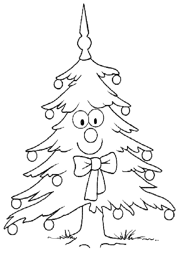 Ausmalbilder Weihnachtsbäume-12