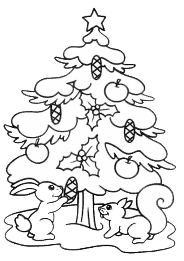 Ausmalbilder Weihnachtsbäume-13