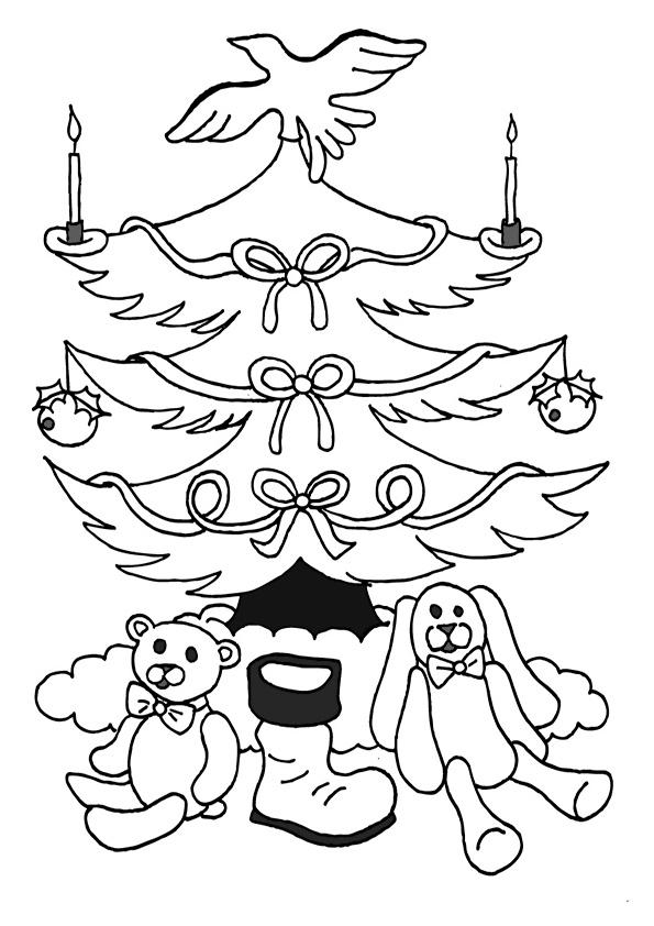 Ausmalbilder Weihnachtsbäume-14