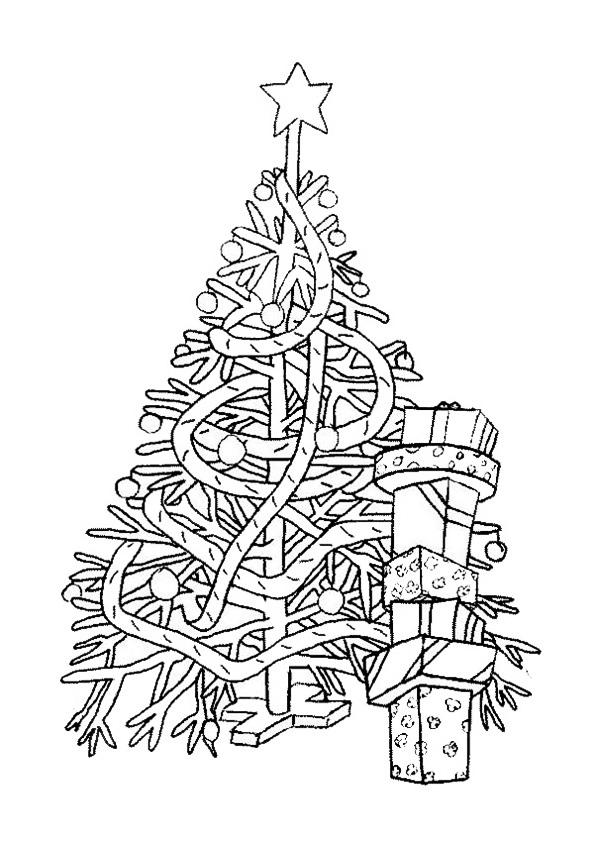 Ausmalbilder Weihnachtsbäume-16