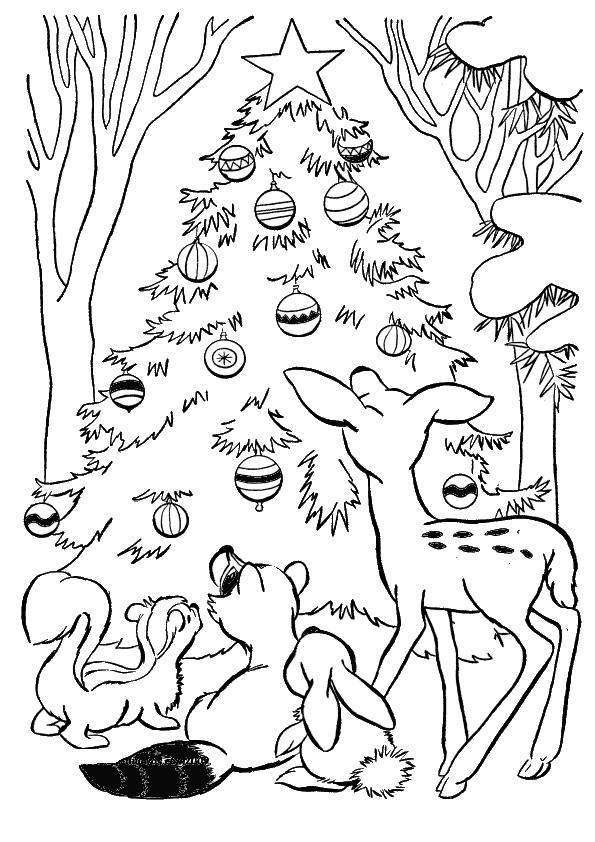 Ausmalbilder Weihnachtsbäume-17