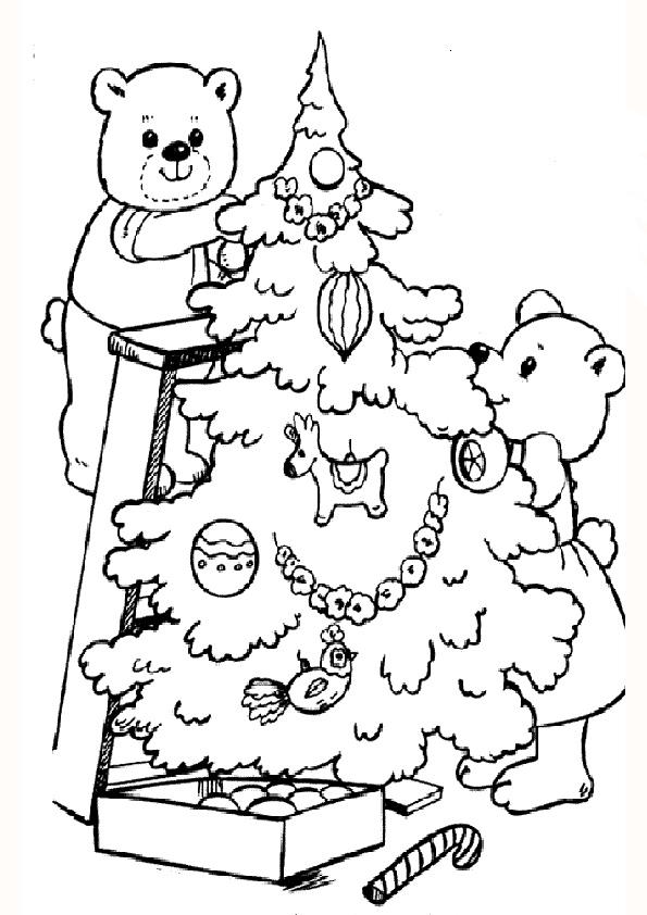 Ausmalbilder-Weihnachtsbaume-18