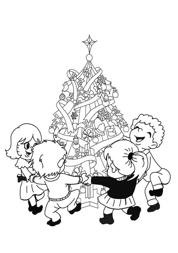 Ausmalbilder-Weihnachtsbaume-21