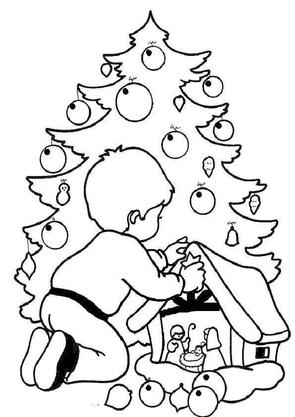Ausmalbilder-Weihnachtsbaume-24