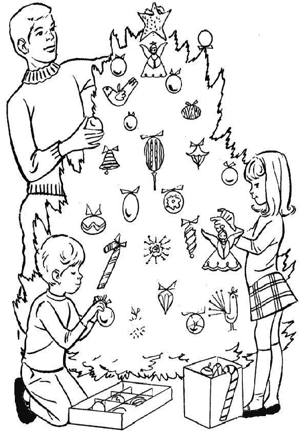 ausmalbilder weihnachtsbäume-28