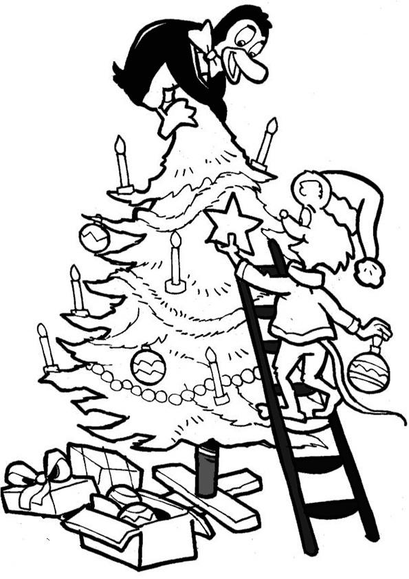Ausmalbilder-Weihnachtsbaume-29