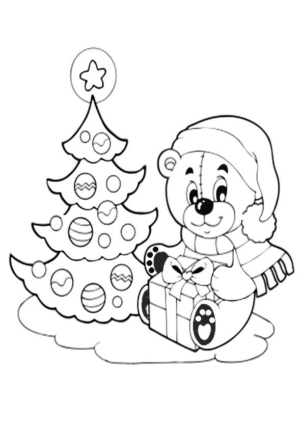 Ausmalbilder-Weihnachtsbaume-30