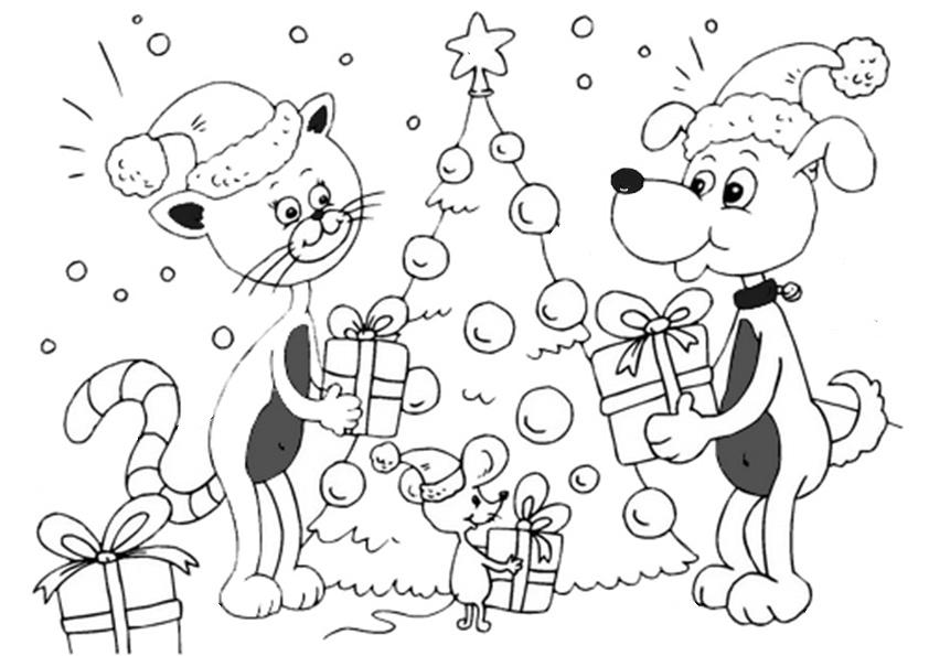 ausmalbilder weihnachtsbäume-32