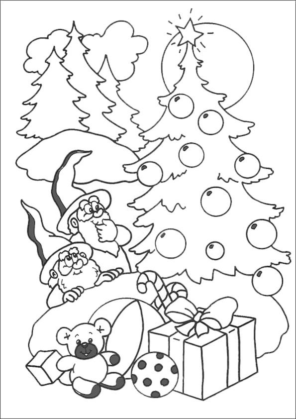Ausmalbilder-Weihnachtsbaume-36