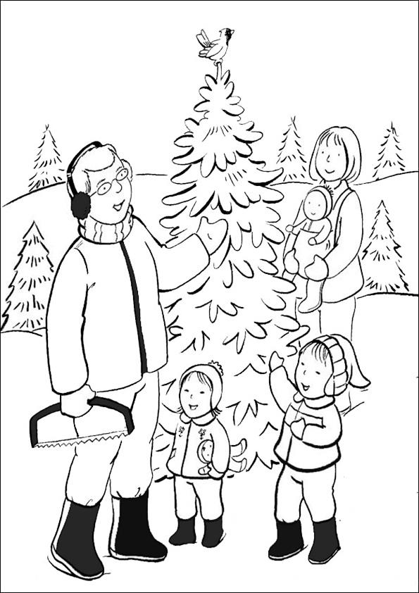Ausmalbilder-Weihnachtsbaume-40