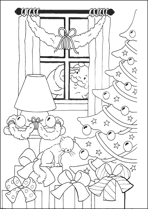 ausmalbilder weihnachtsbäume-41