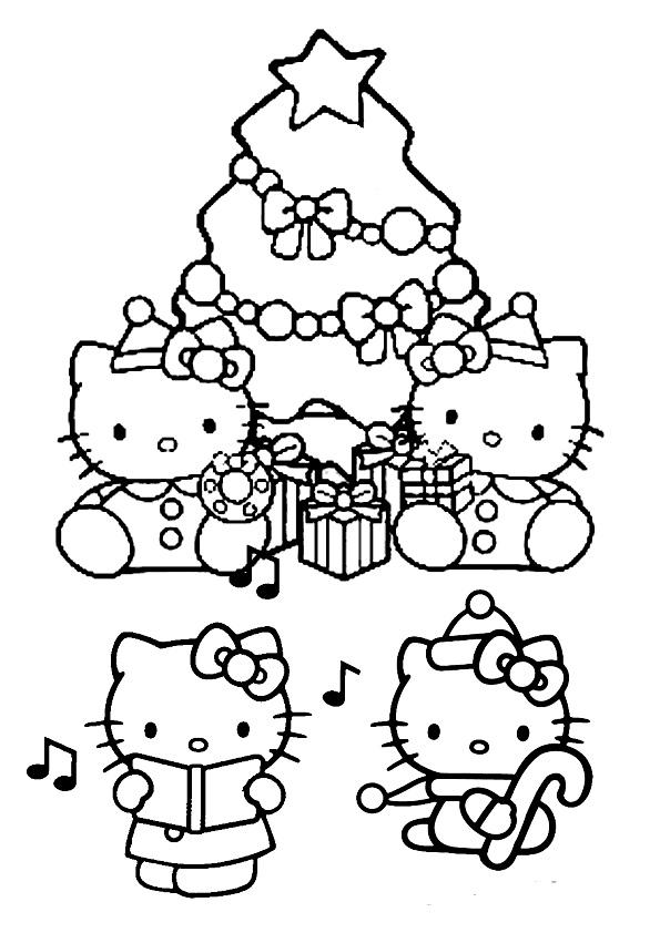 Ausmalbilder Weihnachtsbaume-47