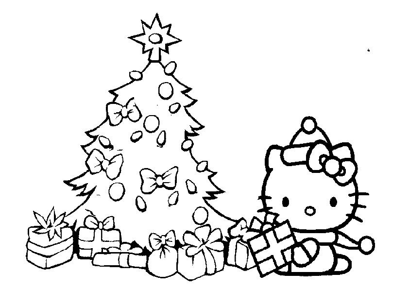 Ausmalbilder Weihnachtsbaume-50