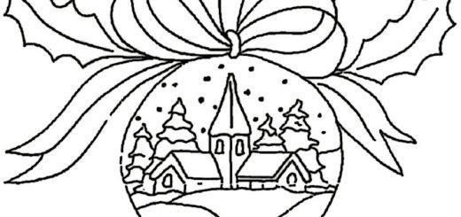ausmalbilder weihnachtsschmuck-25