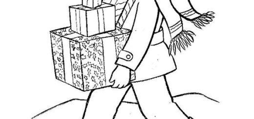 ausmalbilder weihnachtsgeschenke-34