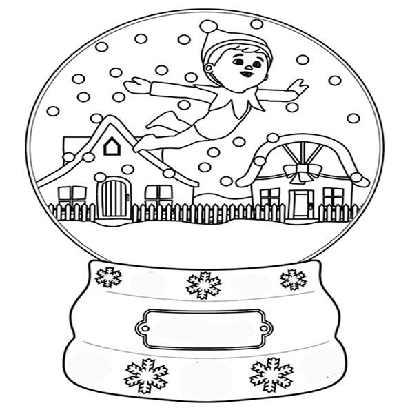 ausmalbilder weihnachten schneekuppel-3
