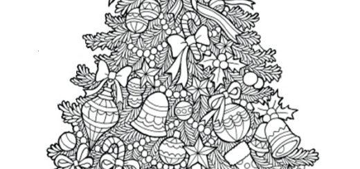 ausmalbilder weihnachtsbäume-56