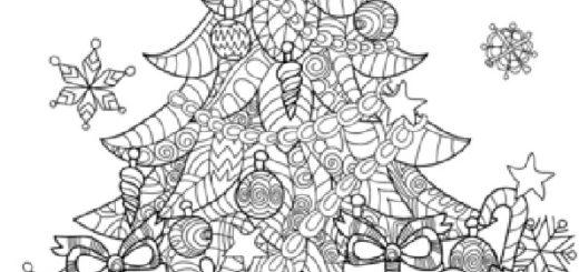ausmalbilder weihnachtsbäume-55