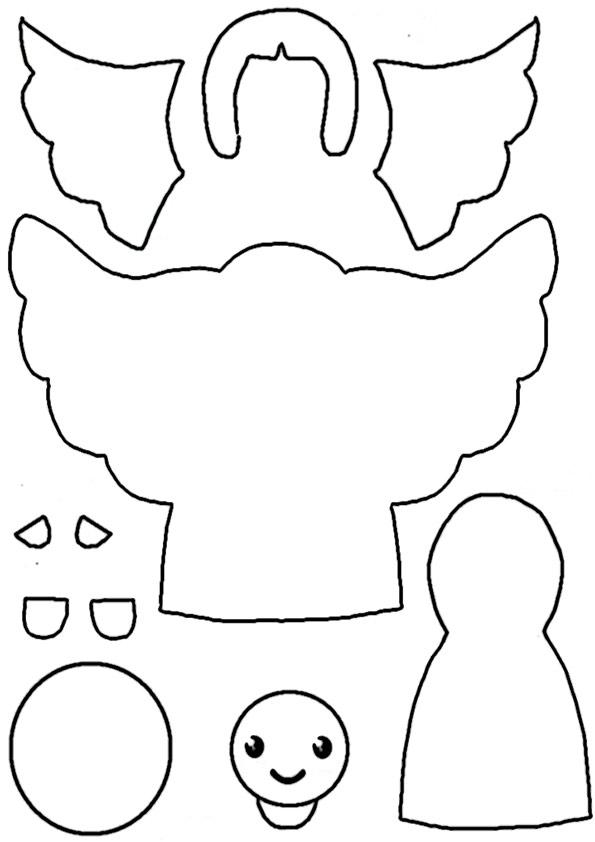 ausmalbilder weihachtsengel -10